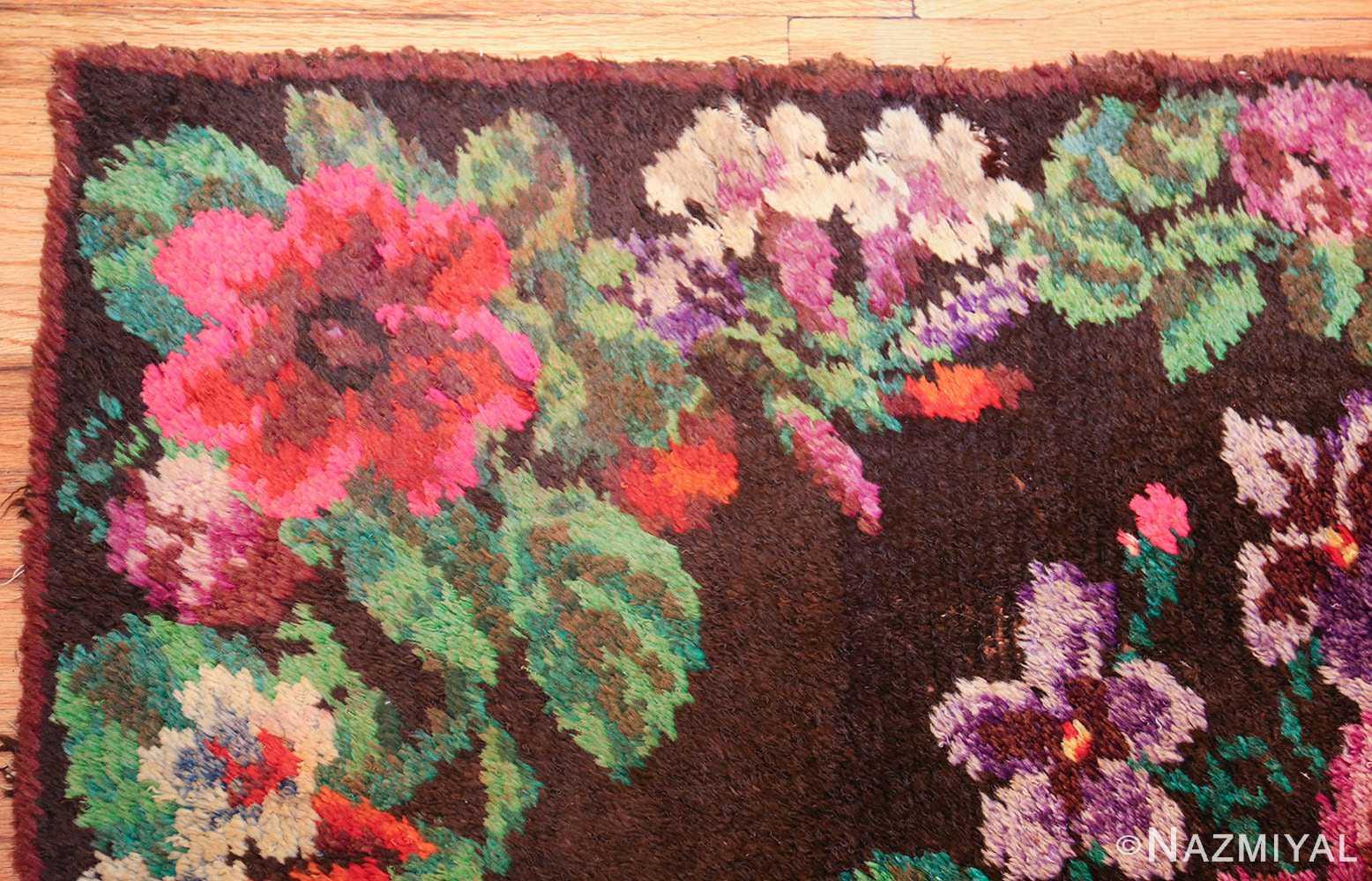 vintage swedish rug 46145 corner Nazmiyal