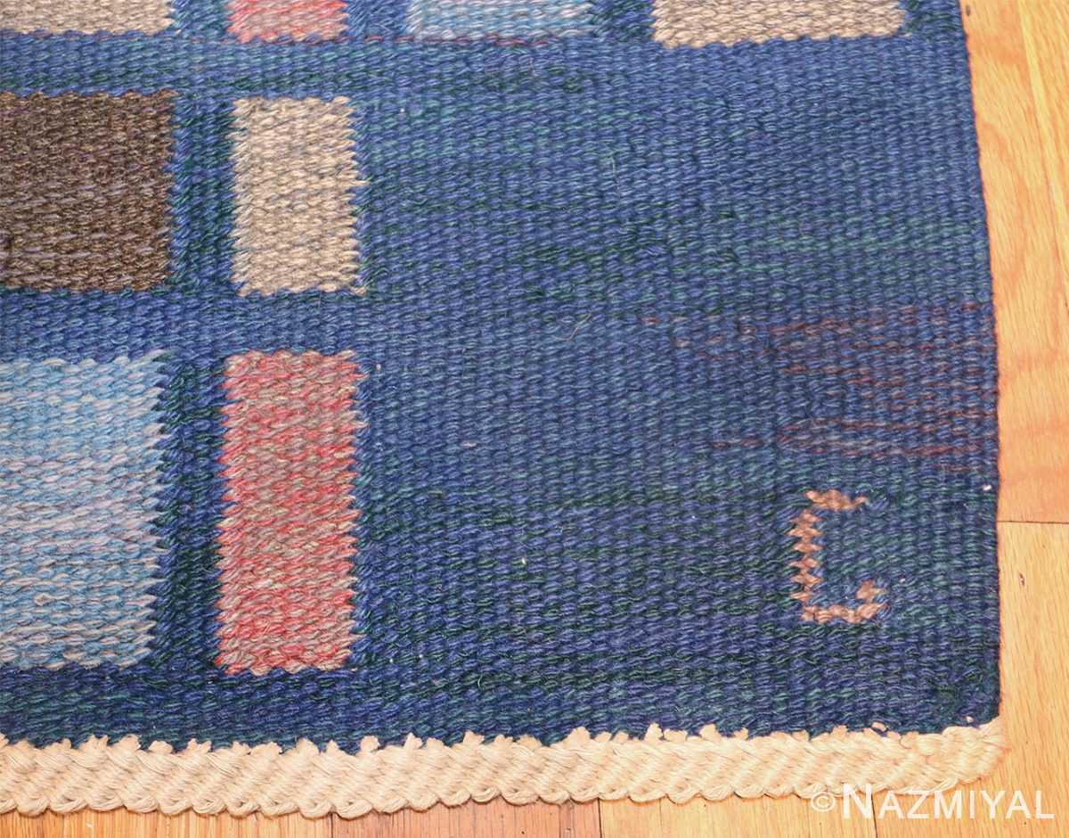 vintage swedish rug by judith johansson 46161 initial Nazmiyal