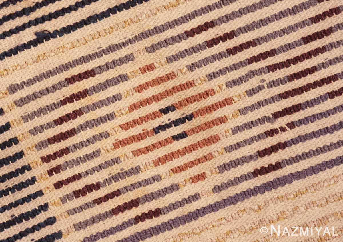 Weave detail Vintage Swedish design by Barbro Springchorn rug 46144 from the Nazmiyal collection