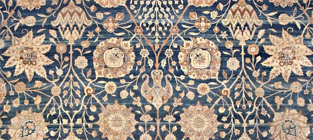 Antique Vase Design Persian Carpet by Nazmiyal NYC