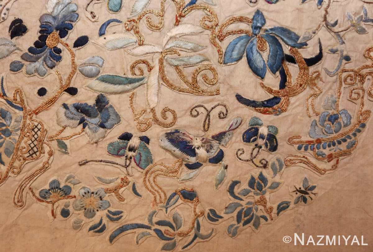 antique chinese embroidery textile 46184 down Nazmiyal