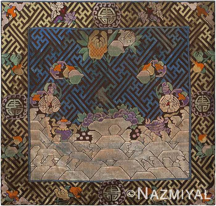 Antique Chinese Rank Badge #46183 by Nazmiyal Antique Rugs