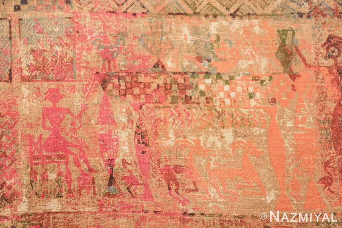 antique egyptian textile 46175 goats Nazmiyal