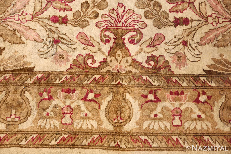 antique indian agra rug 46163 border Nazmiyal