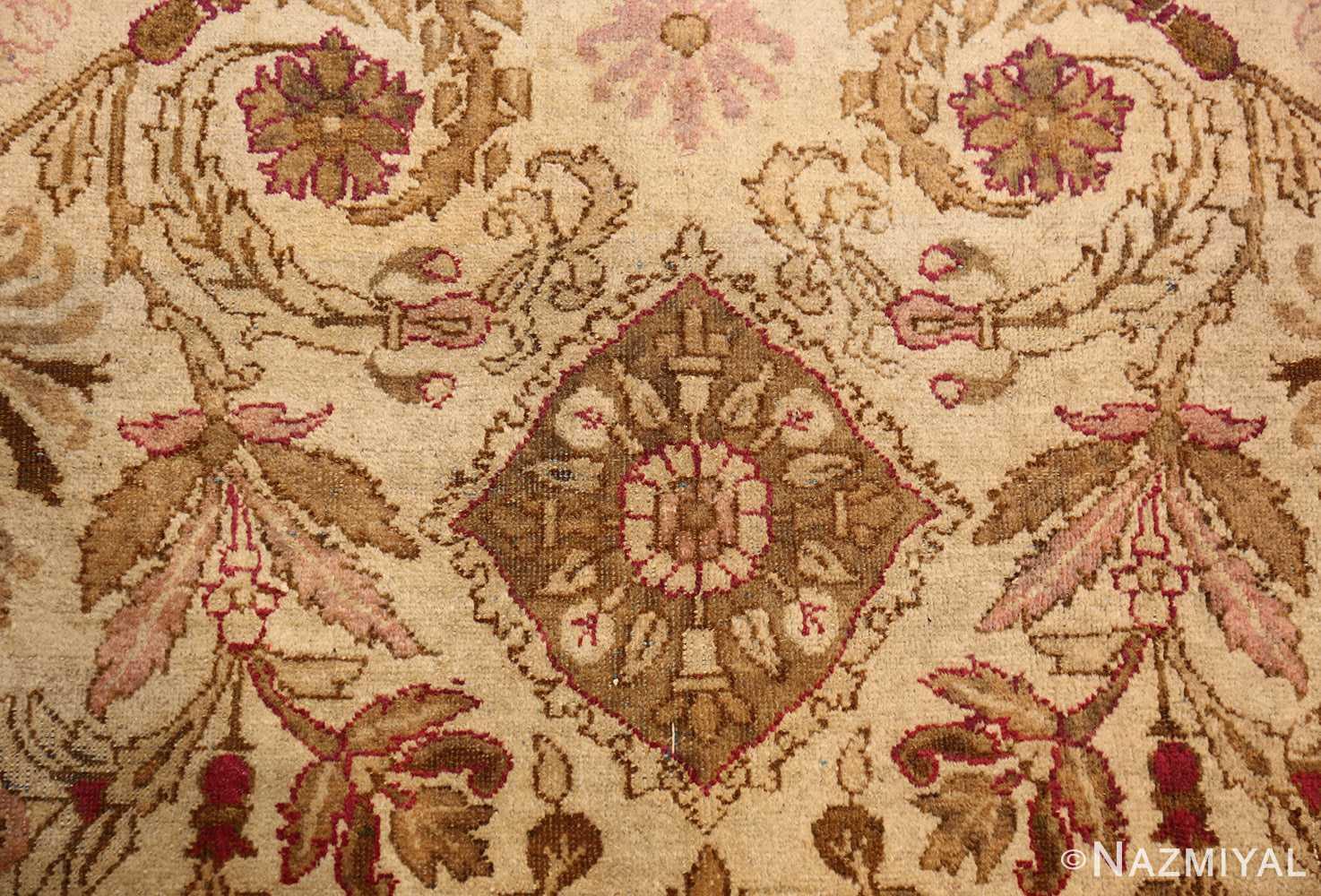 antique indian agra rug 46163 medallion Nazmiyal