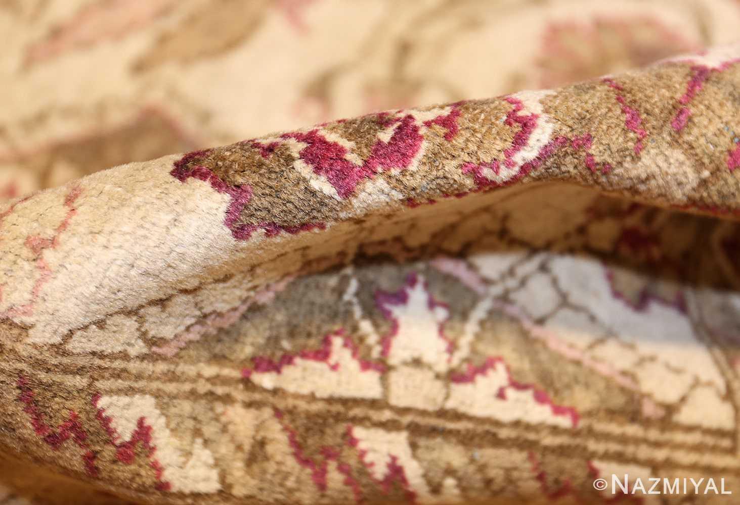 antique indian agra rug 46163 pile Nazmiyal