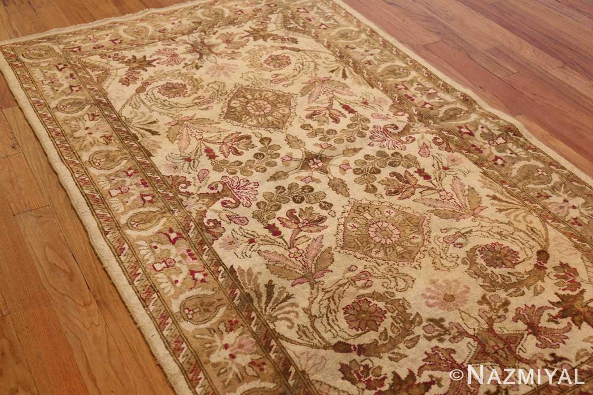 antique indian agra rug 46163 side Nazmiyal