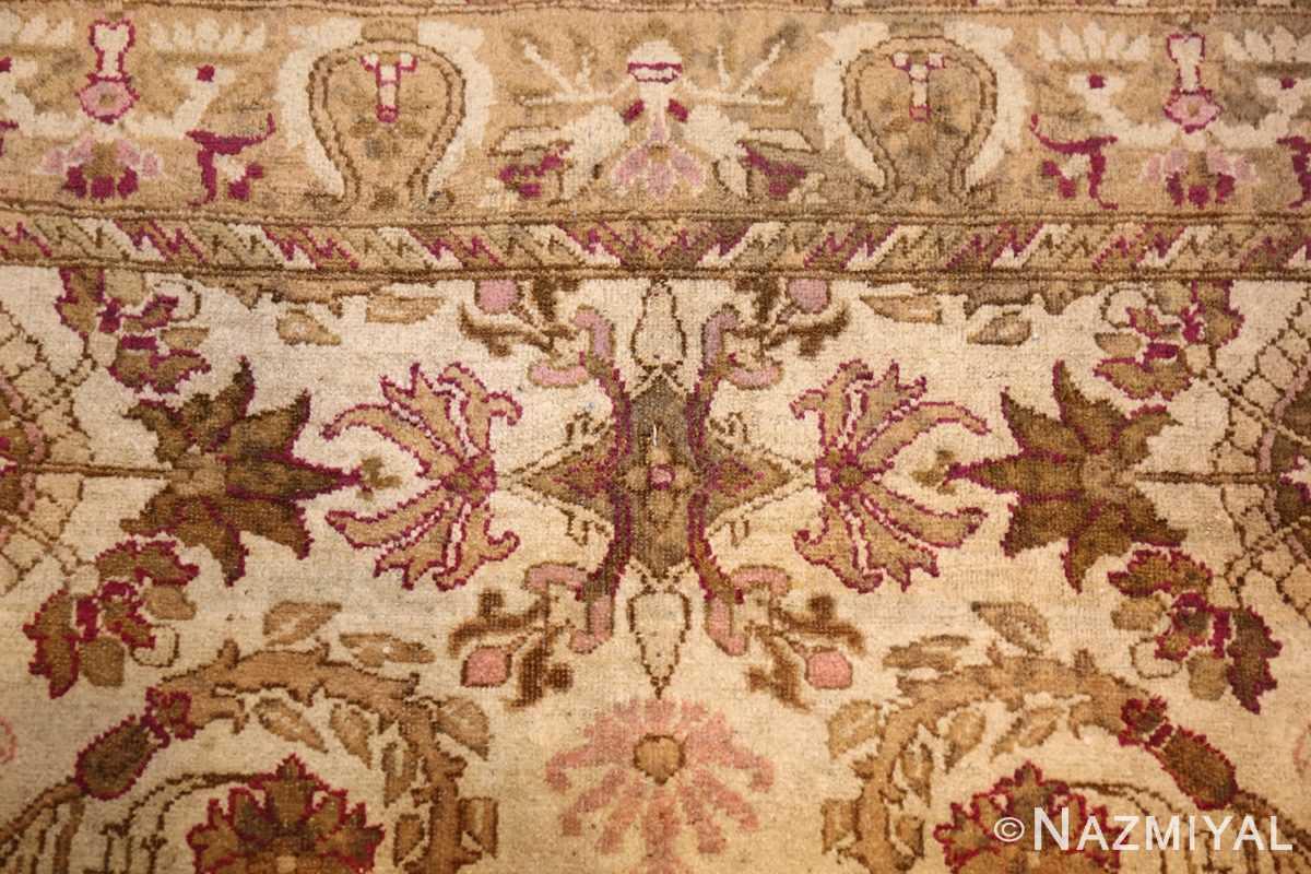 antique indian agra rug 46163 top Nazmiyal