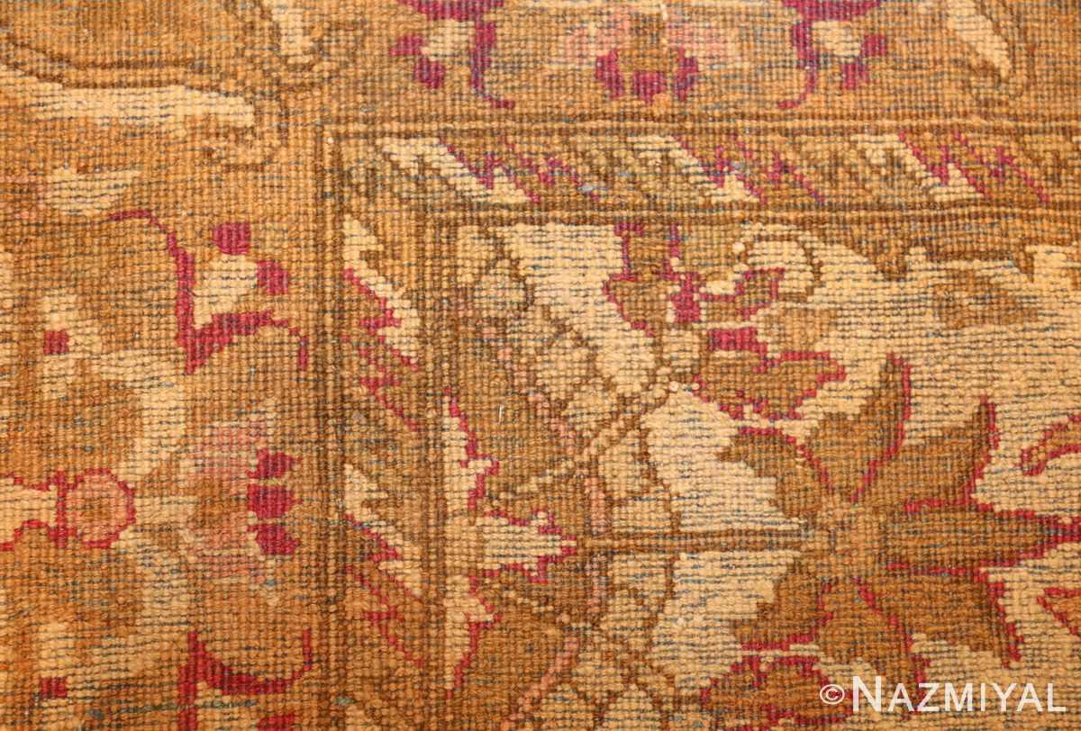 antique indian agra rug 46163 weave Nazmiyal