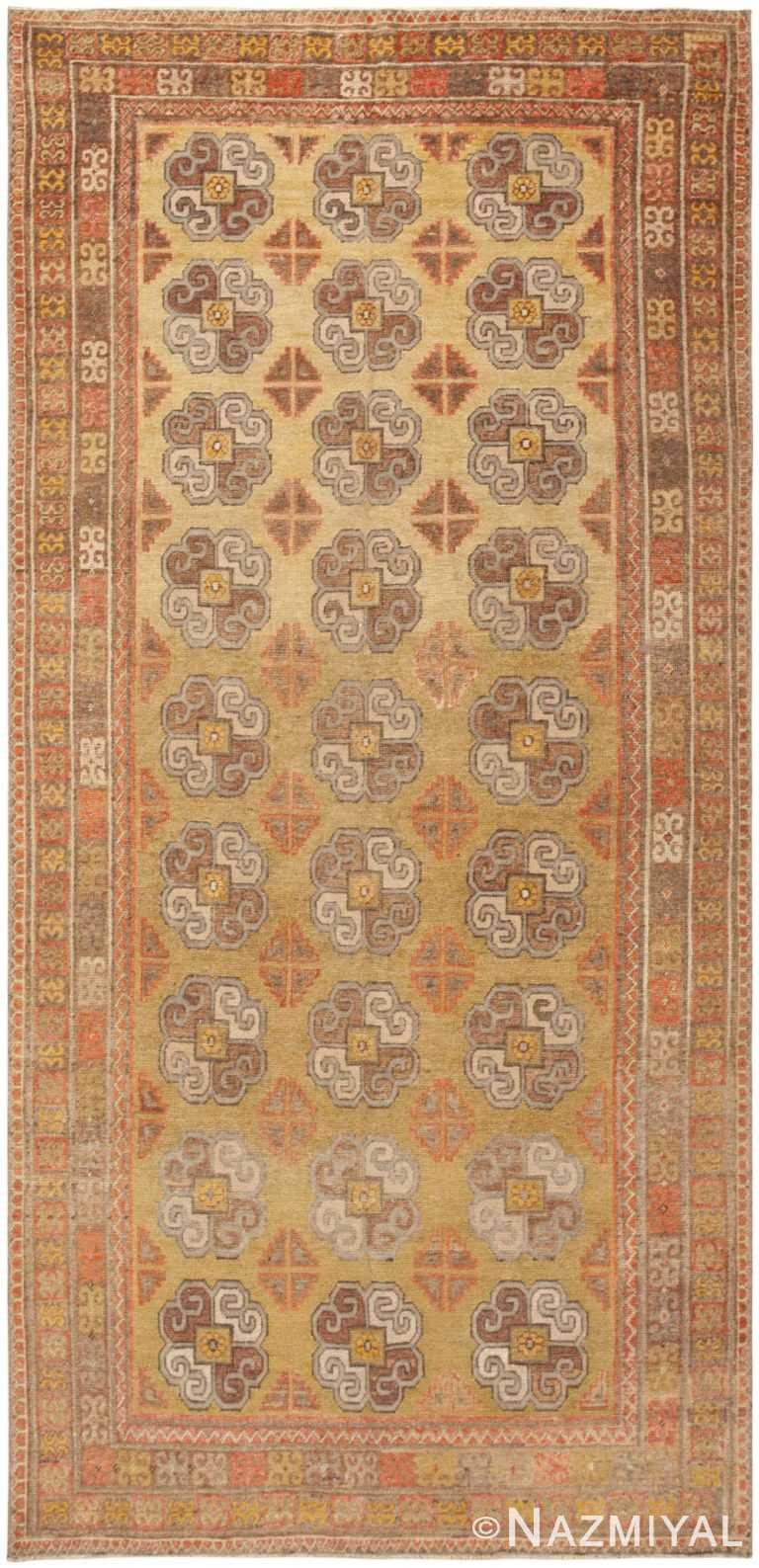 Antique Light Green Oriental Khotan Rug by Nazmiyal