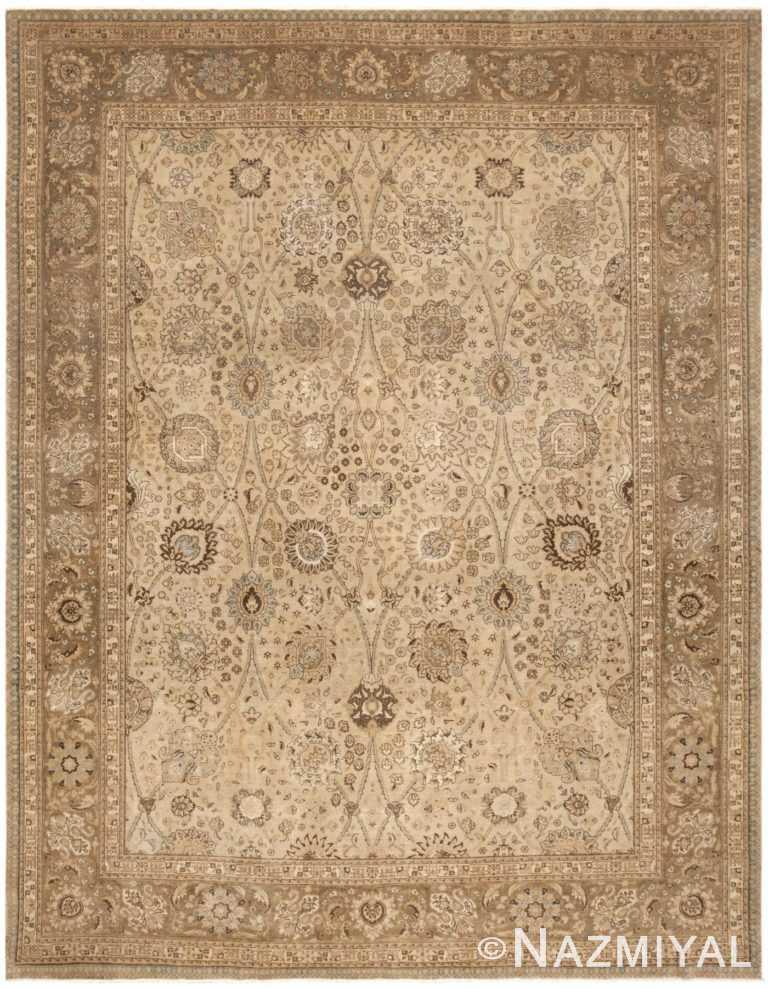 Vintage Persian Tabriz Rug 45768 Detail/Large View