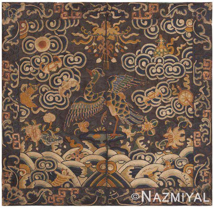 Antique Chinese Rank Badge 46182 by Nazmiyal NYC