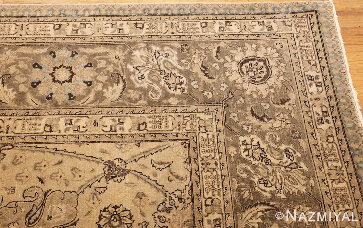vintage persian tabriz rug 45768 corner Nazmiyal