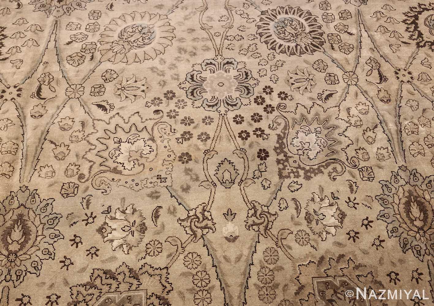 vintage persian tabriz rug 45768 flower Nazmiyal