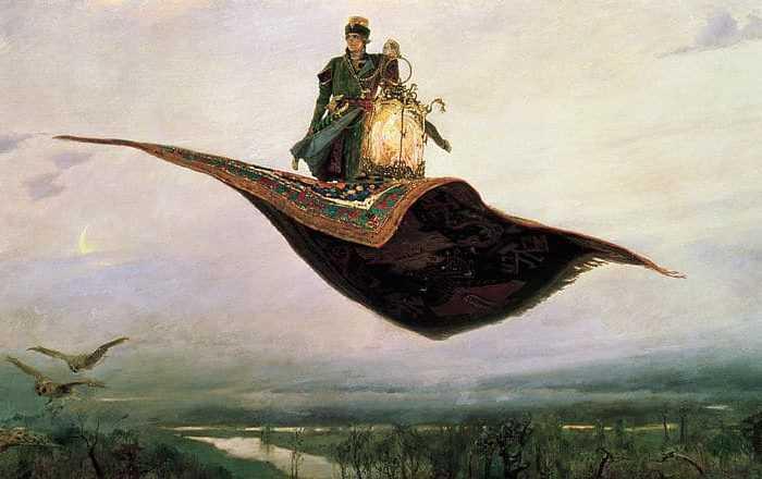 Arabian Nights Magic Flying Carpet Nazmiyal