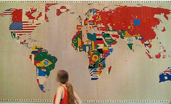 Antique World Map Tapestry.Alighiero Boetti Alighiero Boetti Tapestries And Textile Art At Moma