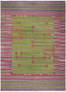 Vintage Swedish Kilim 46203 Large Image
