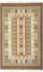 Vintage Swedish Kilim 46238 Detail/Large View