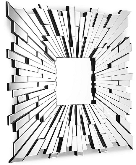 Contemporary Mirror: Sunburst Design by Nazmiyal