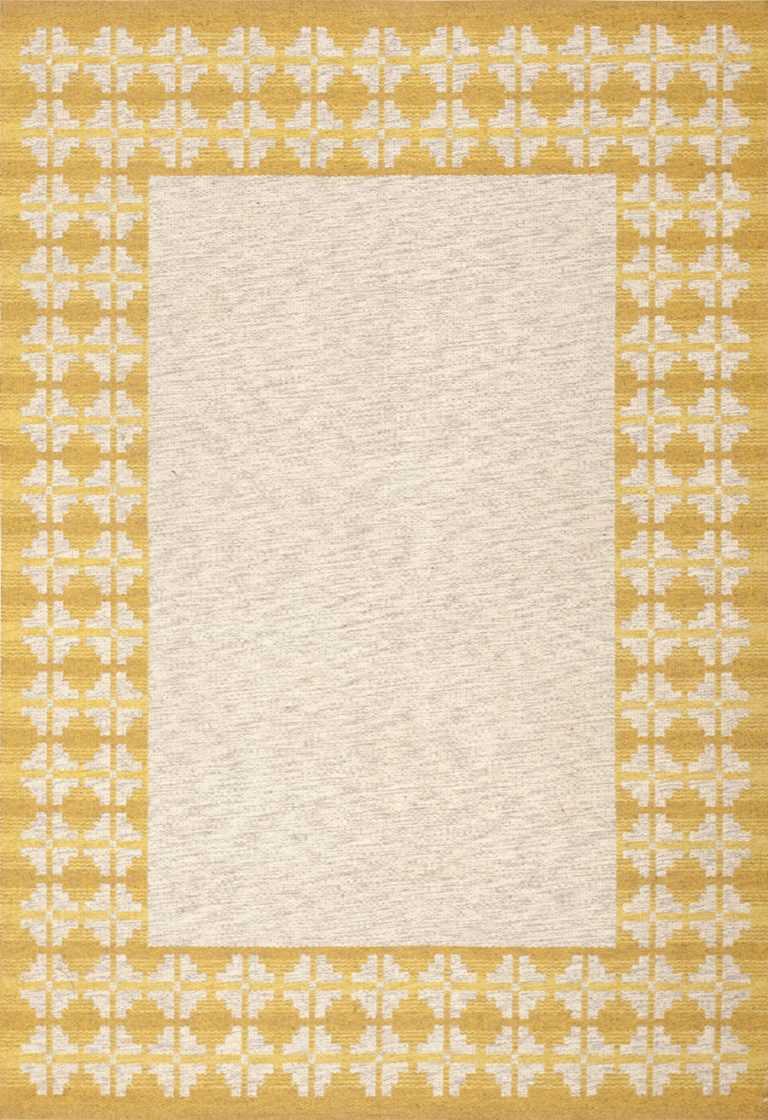 vintage swedish double sided kilim 46208 Nazmiyal