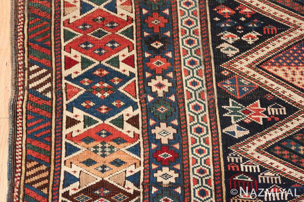 antique caucasian shirvan rug 46196 border Nazmiyal