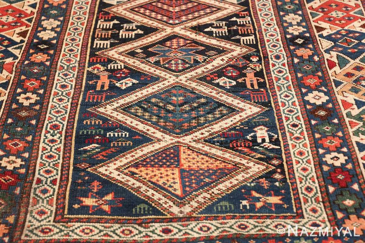 antique caucasian shirvan rug 46196 diamonds Nazmiyal