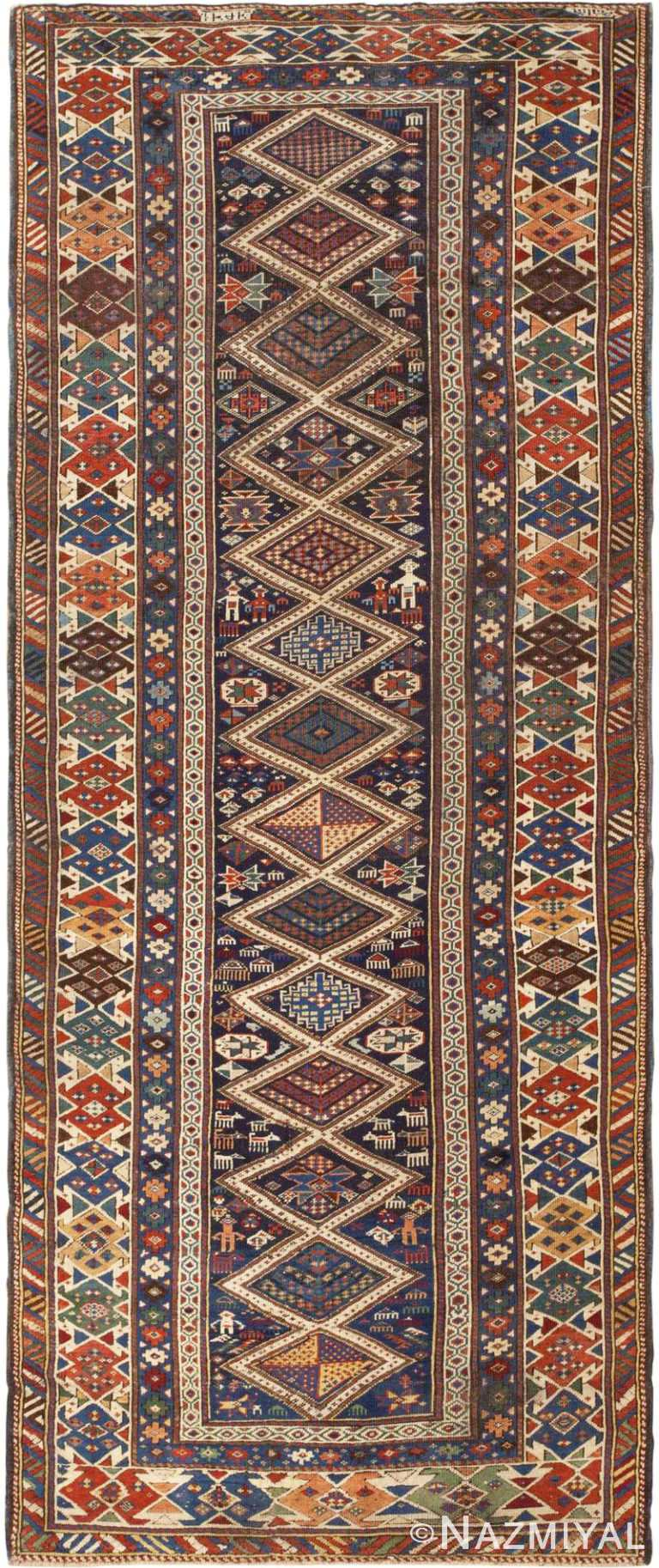 Antique Caucasian Shirvan Rug #46196 by Nazmiyal Antique Rugs