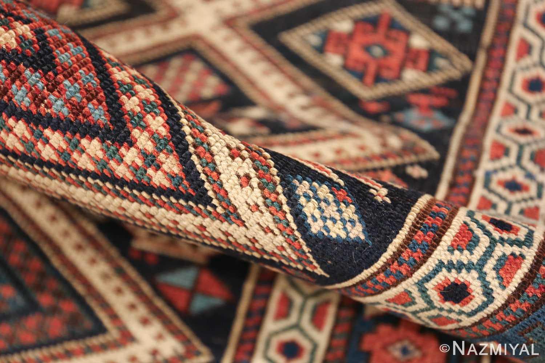 antique caucasian shirvan rug 46196 pile Nazmiyal
