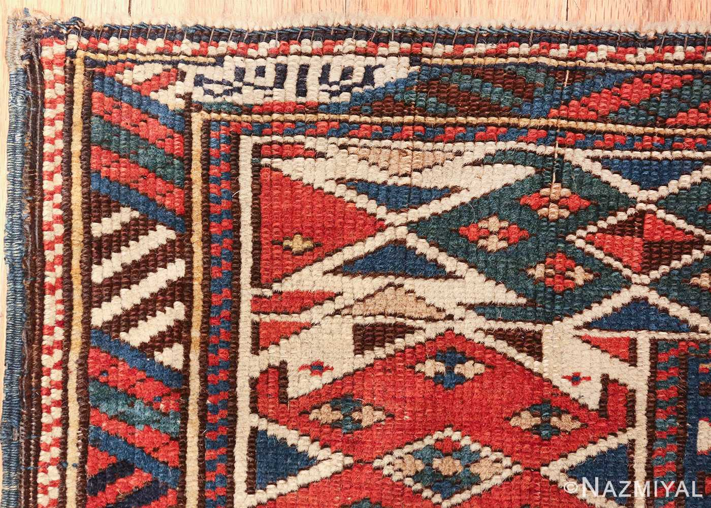 antique caucasian shirvan rug 46196 signature Nazmiyal