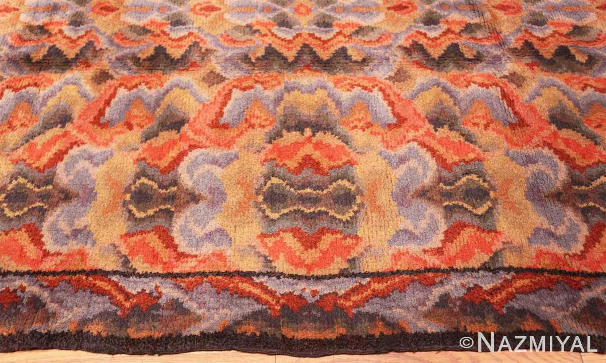 Border Vintage Swedish Scandinavian rug 46239 by Nazmiyal