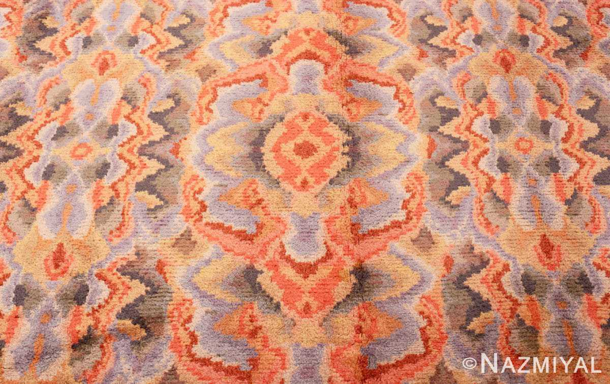 Close-up Vintage Swedish Scandinavian rug 46239 by Nazmiyal