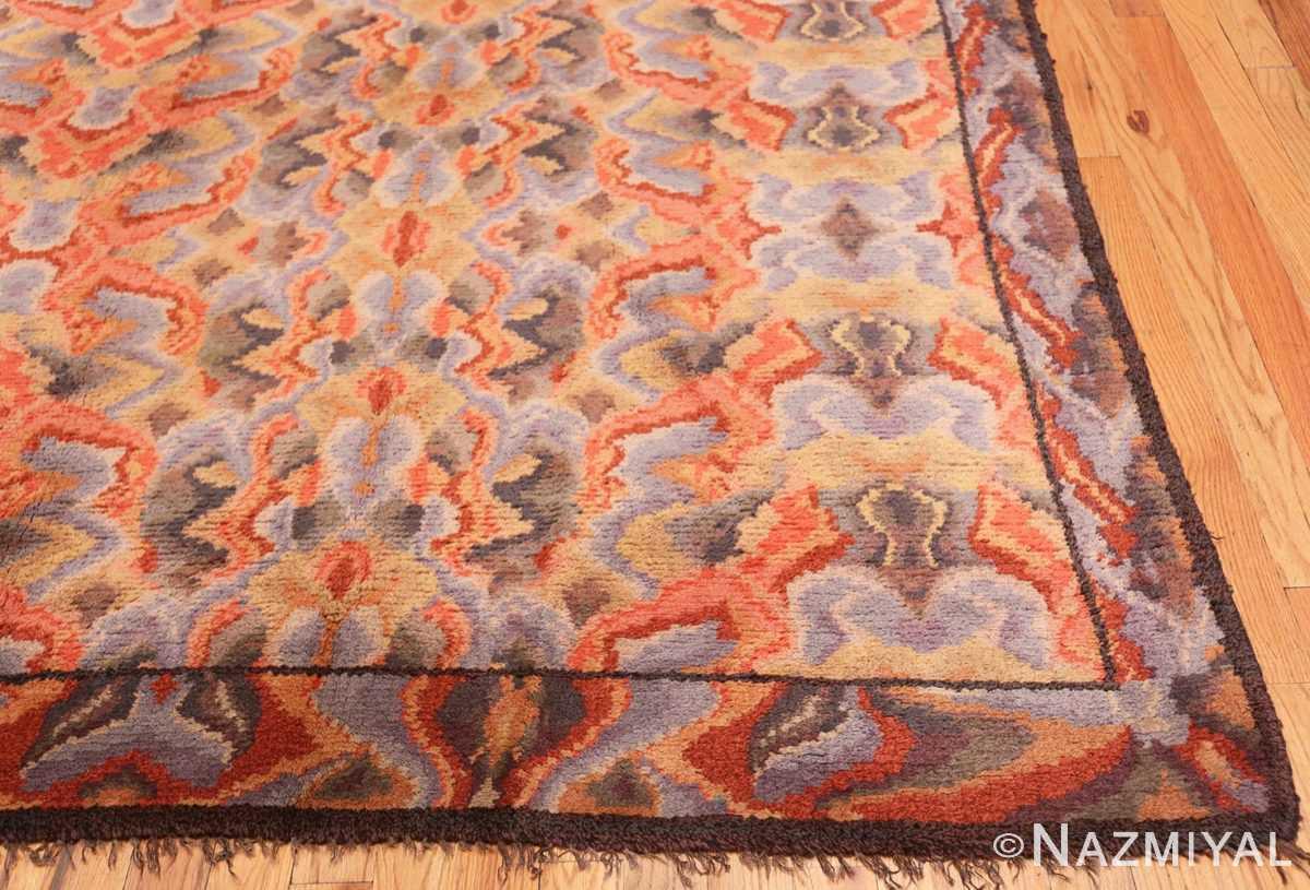 Corner Vintage Swedish Scandinavian rug 46239 by Nazmiyal