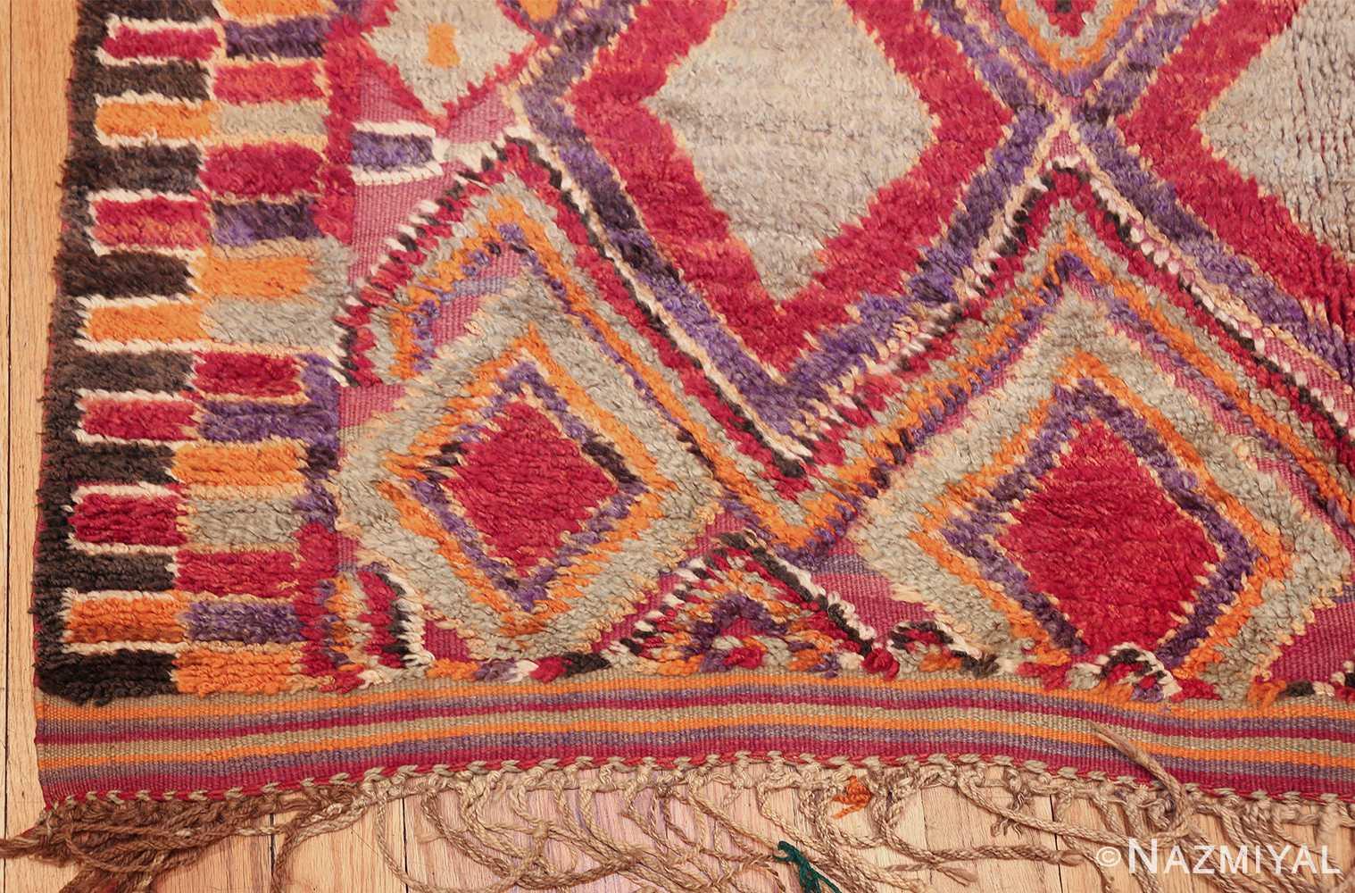large size vintage moroccan rug 45996 corner Nazmiyal