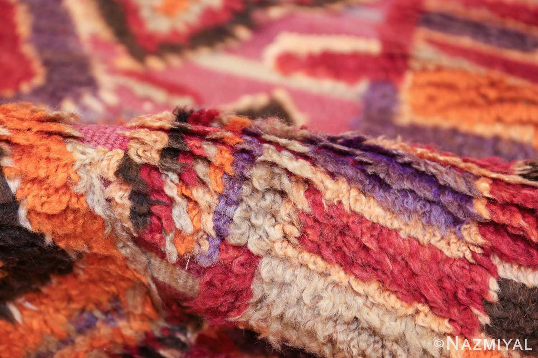 large size vintage moroccan rug 45996 pile Nazmiyal