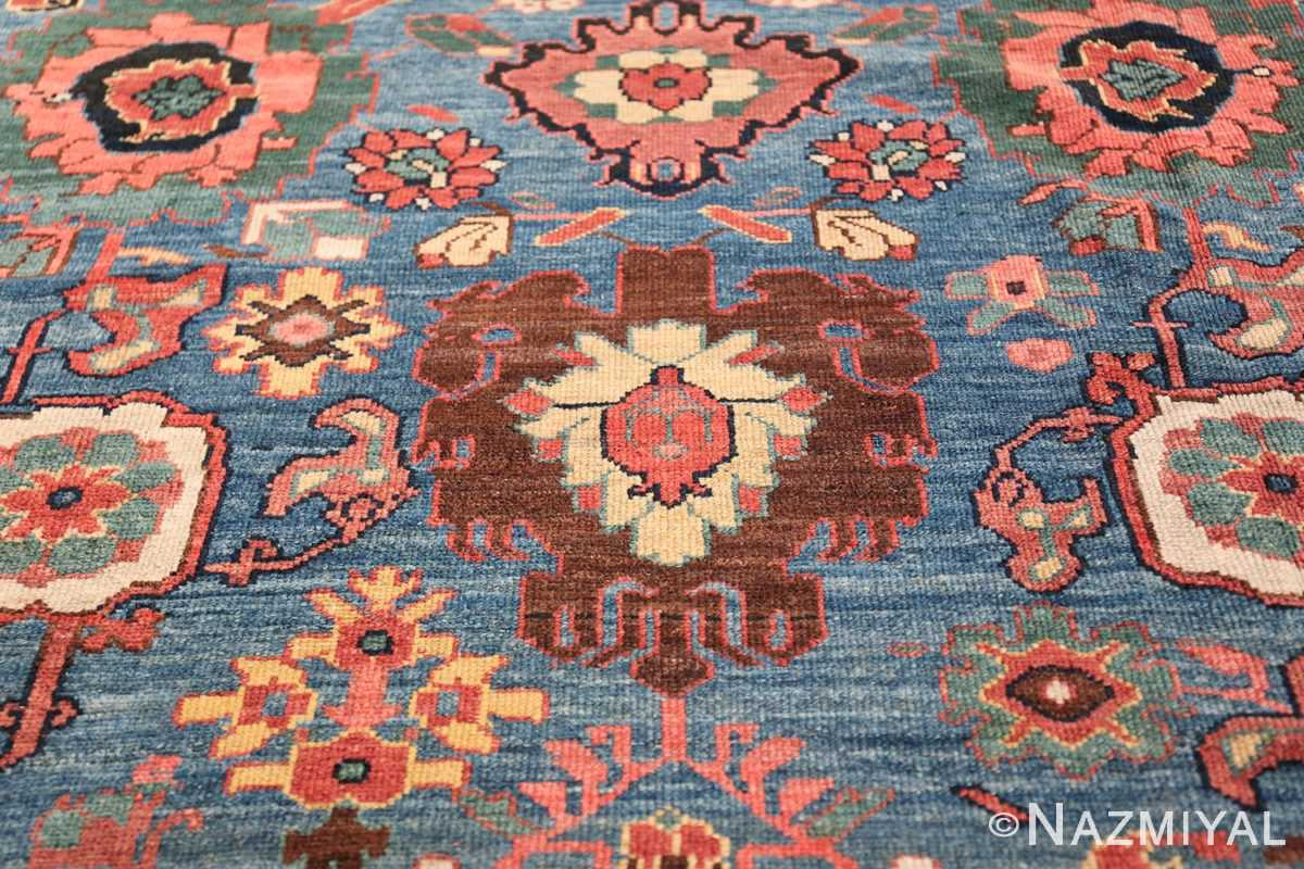 Oversized Blue Antique Persian Malayer Geometric Rug 45761 Brown Pomegranate Nazmiyal