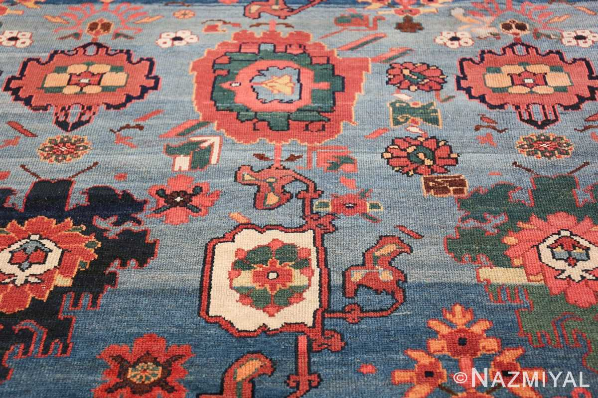 Oversized Blue Antique Persian Malayer Geometric Rug 45761 Four Bunch Nazmiyal