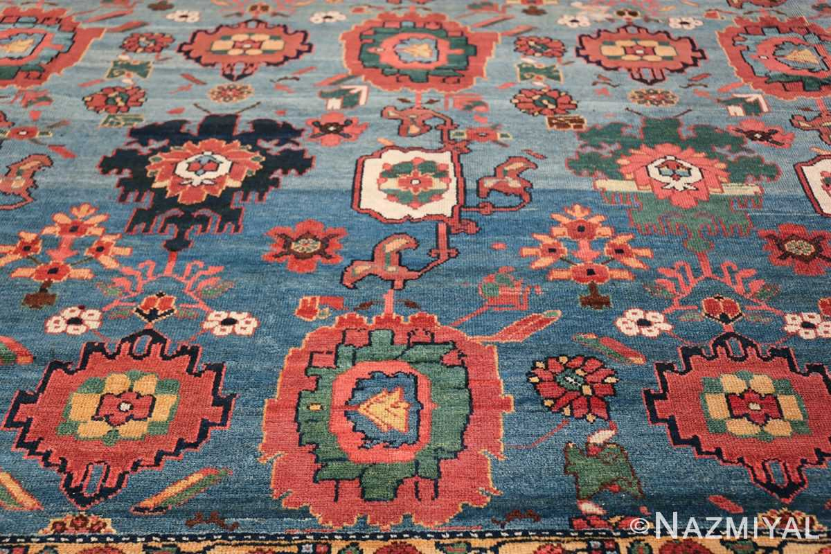 Oversized Blue Antique Persian Malayer Geometric Rug 45761 Red Leaves Nazmiyal