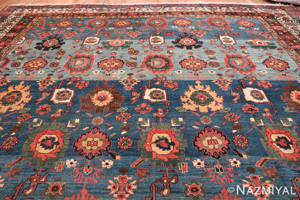 Oversized Blue Antique Persian Malayer Geometric Rug 45761 Top Design Nazmiyal