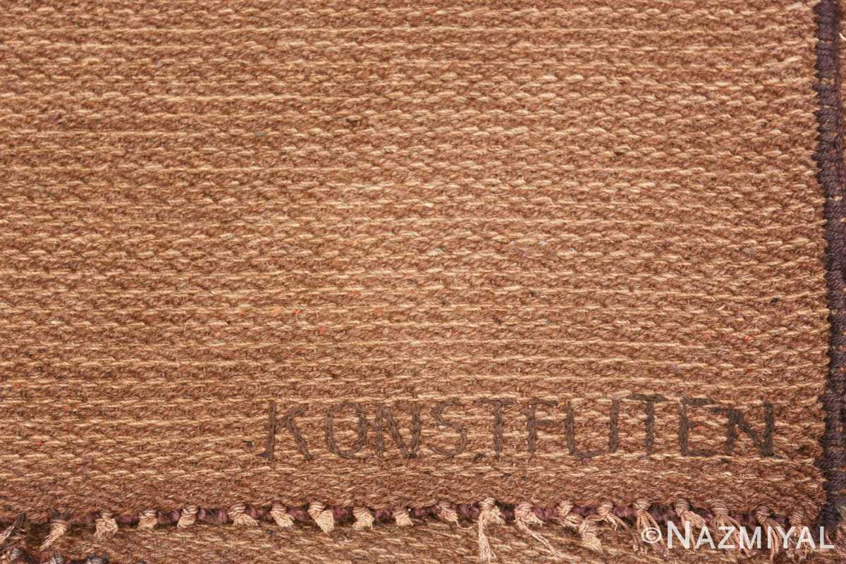Vintage Swedish Scandinavian rug 46239 by Nazmiyal