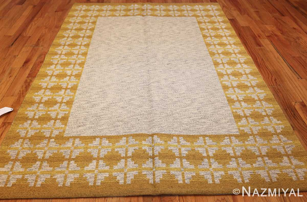 vintage swedish double sided kilim 46208 gray whole Nazmiyal