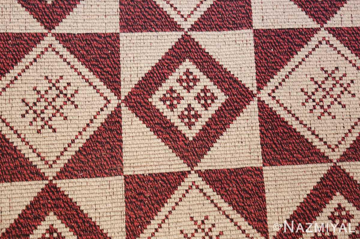 vintage swedish double sided kilim 46211 closeup Nazmiyal