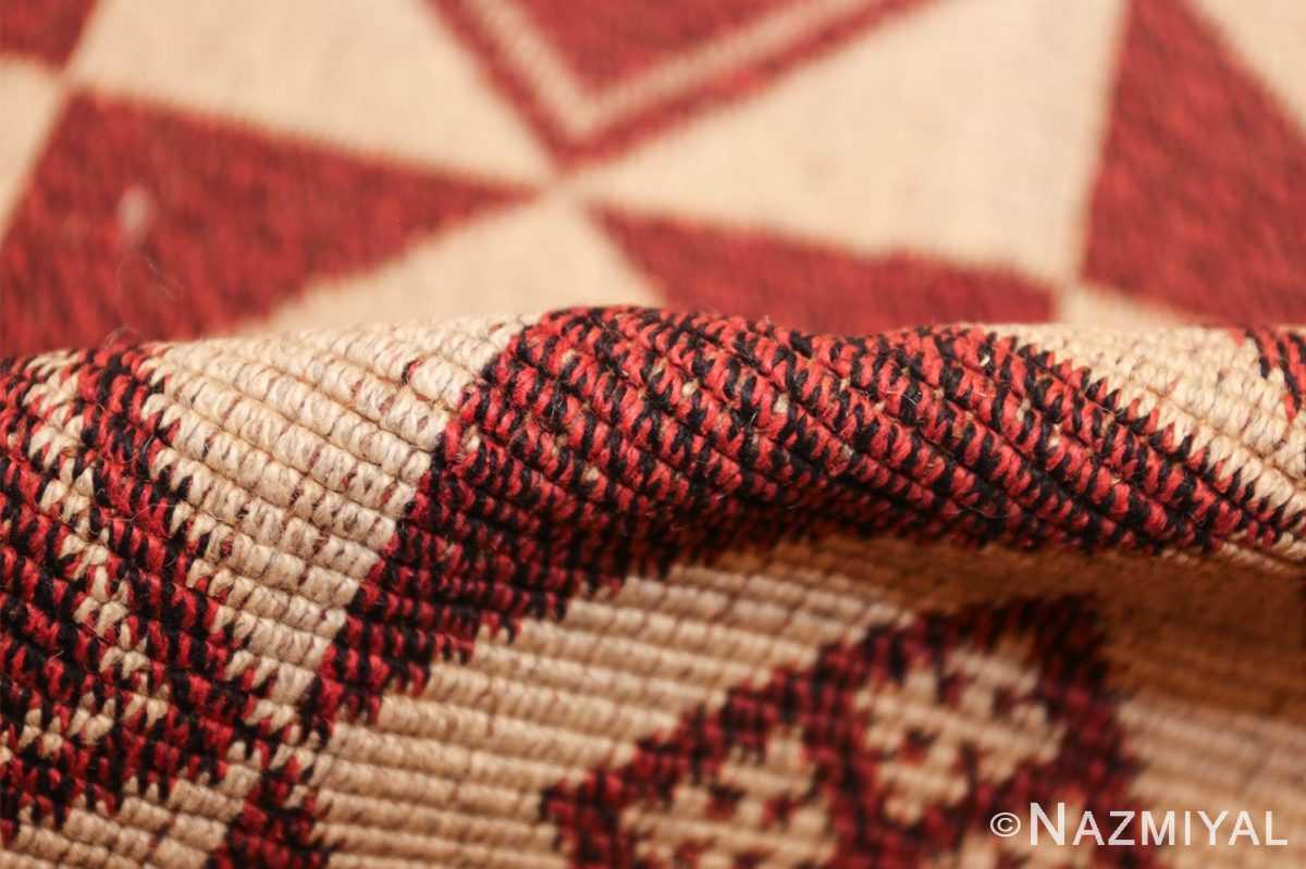 vintage swedish double sided kilim 46211 cream pile Nazmiyal