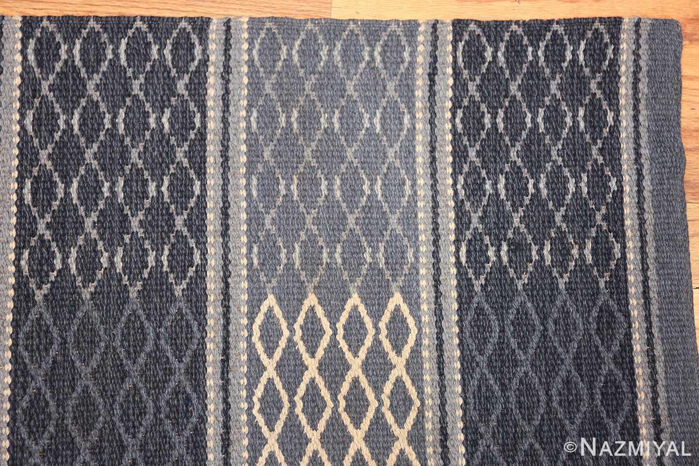 vintage swedish double sided rug 46236 corner Nazmiyal