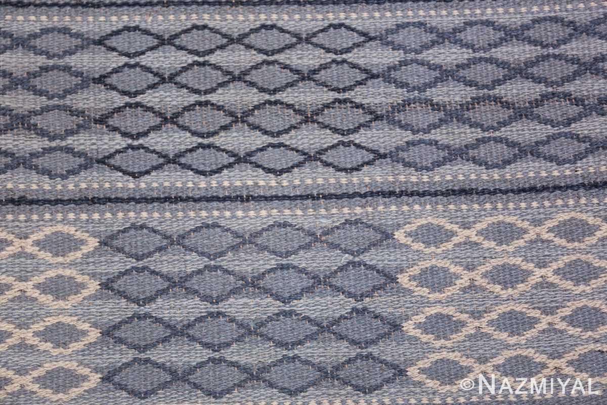 vintage swedish double sided rug 46236 dark Nazmiyal