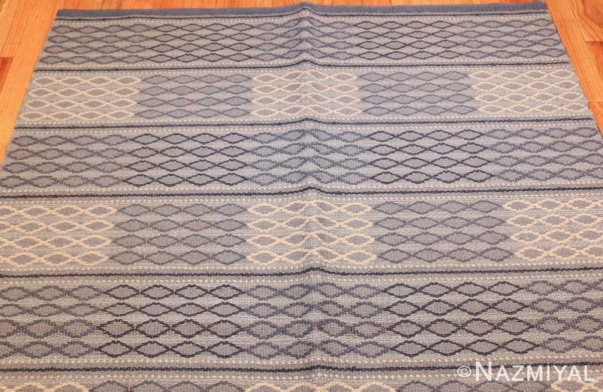 vintage swedish double sided rug 46236 top Nazmiyal