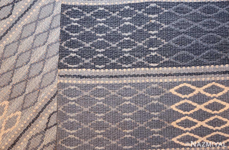 vintage swedish double sided rug 46236 weave Nazmiyal