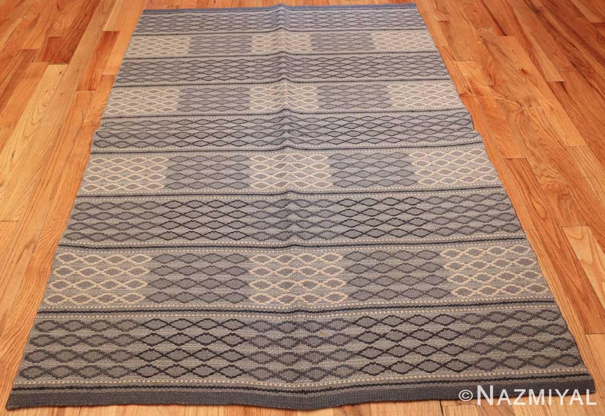 vintage swedish double sided rug 46236 whole Nazmiyal