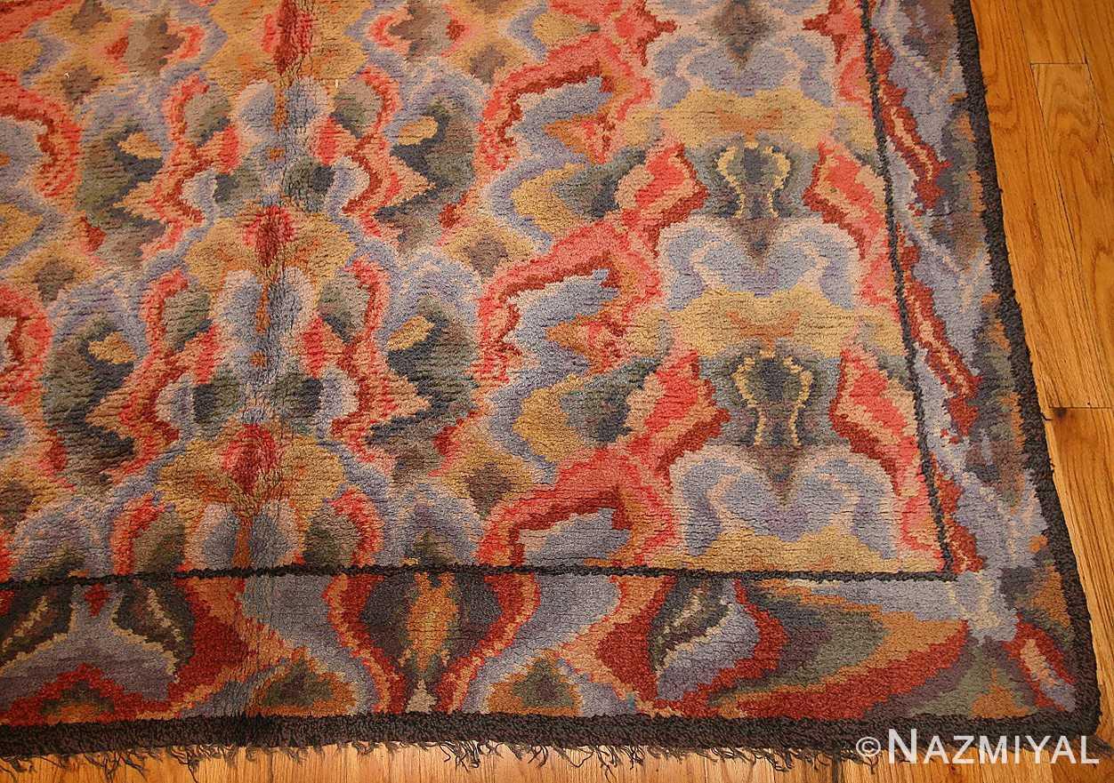 vintage swedish rug 46239 border Nazmiyal
