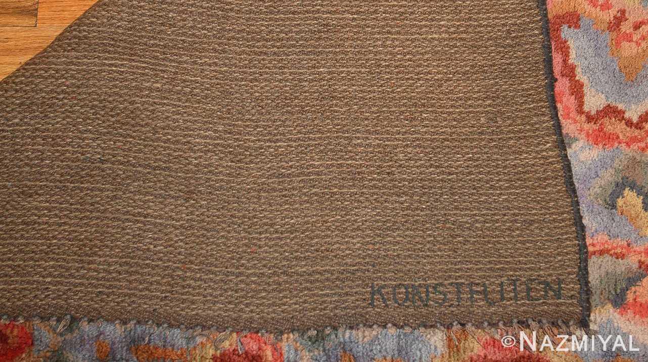 vintage swedish rug 46239 signature Nazmiyal