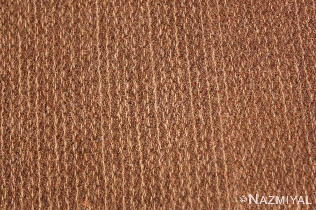 Weave detail Vintage Swedish Scandinavian rug 46239 by Nazmiyal